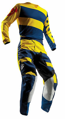 THOR MX Motocross Men's 2018 PULSE LEVEL Jersey/Pants Kit (Navy/Yellow)