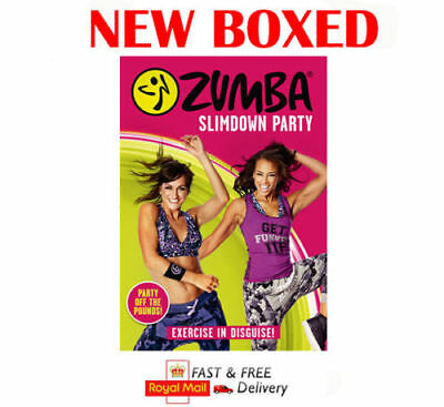 Zumba Slimdown Party Fitness Dance Workout Video Excercise New Boxed UK R2 DVD