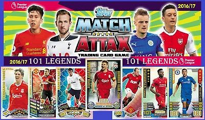Choose MATCH ATTAX 2016 2017 Topps 16/17 HUNDRED CLUB 101 LEGEND 100Club Cards
