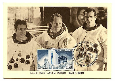 Apollo 15.irwin.worden.scott.juillet1971.sud-Aviation Philatélie.