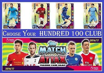 Choose MATCH ATTAX 2016 2017 Topps 16/17 HUNDRED 100Club Cards