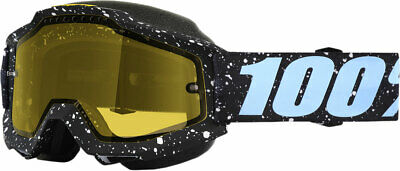 100% Snow Snowmobile ACCURI Goggles (MILKYWAY w/Anti-Fog Yellow Lens) Adult