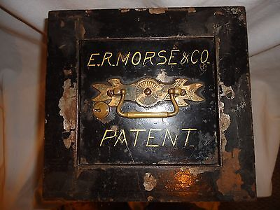 1860's-1880's Enoch R. Morse Wall Floor Safe,very Rare Find,e.r.morse & Co.keyed