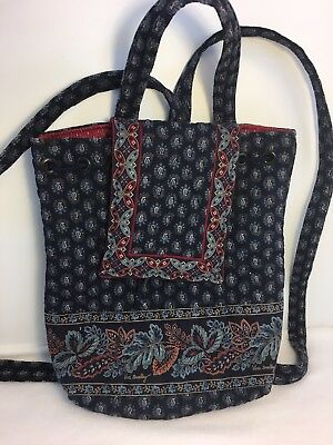 Vera Bradley Retired Classic Navy Mimi Backpack Excellent Condition