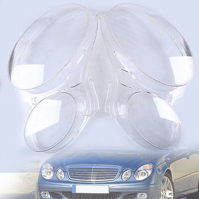 For Benz W211 E350/300/200 2003-2009 Headlight Lens Replacement Cover Left+Right