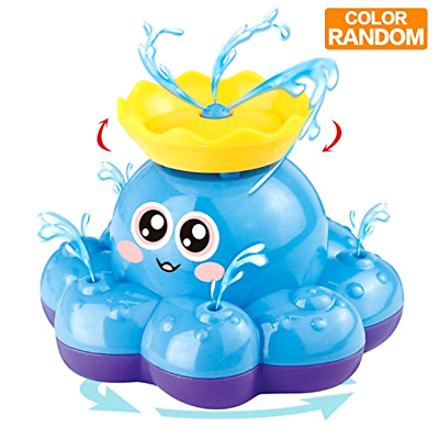 Spray Water Octopus Splash Bath Toy Fountain with Water Pump Electronic Sprayer