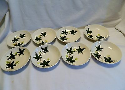 Vintage Hand-Painted 'Ivy' By Kanedai -8 Berry/ Dessert Bowls –Japan