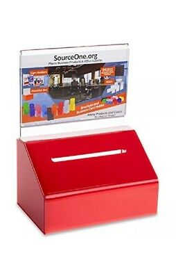 Index Card Filing Source One Heavy Duty Donation Ballot Box Lock Sign Holder