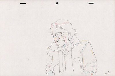 Akira Anime Genga for Cel Set of 2 Animation Art Kai Crying COA Otomo アキラ