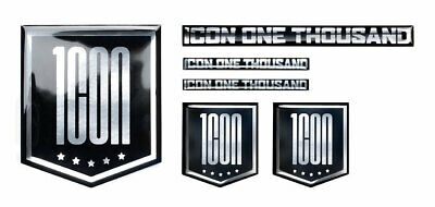 ICON One Thousand 1000 Chrome Decals/Stickers (Chrome)
