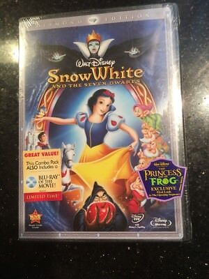 Snow White and the Seven Dwarfs (DVD + Blu-Ray, 2009, 3-Disc Set) NEW Sealed