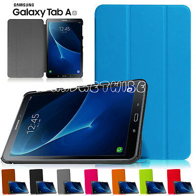 """Smart Folio Book Back Case Cover For Samsung Galaxy Tab A 7"""" Inch T280 T285 2016"""