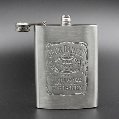Flasque à Whisky Jack Daniels Old n°7    7oz/20cl hip silver stainless steel