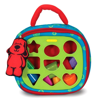Take Along Shape Sorter with 2 Sided Activity Bag and 9 Textured Shape Blocks