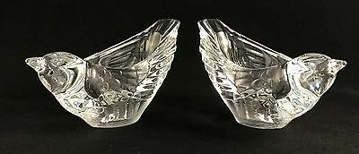 Set Of 2 Beautiful CRISTAL D' ARQUES 24% Lead Bird Candle Holder