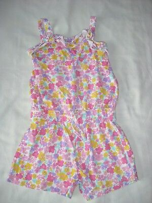 Nutmeg girls pretty floral jersey playsuit 5-6 years spring summer