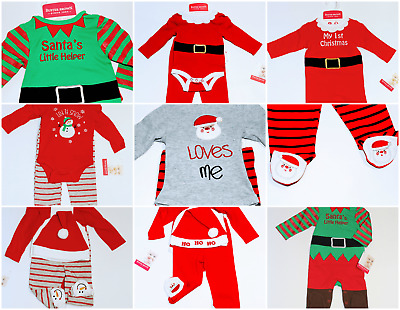 00645c579927 NEWBORN BABY BOYS Girls Christmas Clothes Tops Romper Pants Hat 3PCS ...