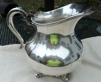 "Reed & Barton Silverplate silver-plate Regent 5600  footed pitcher 8"" x 9"""