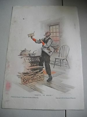 Vintage 1915 Cream of Wheat Advertisement   Edward Brewer People's Home Journal