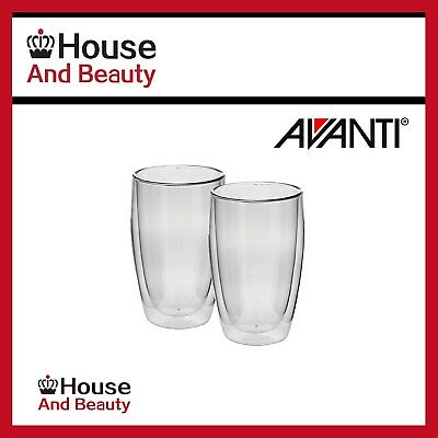 NEW Avanti Caffe Twin Wall Glass Set 400ml - Set of Two