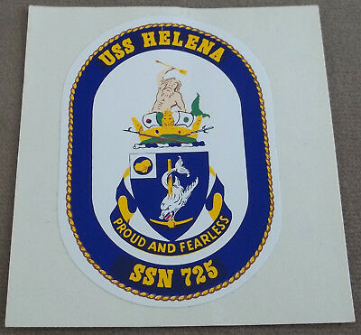 US Navy Decal - Sticker - USS Helena SSN-725 Style C