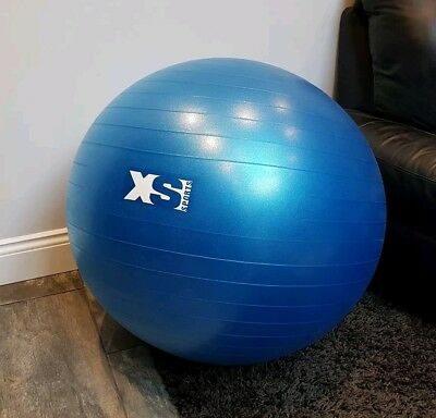 75cm Birthing ball, anti burst, gym, exercise, core fitness, includes pump