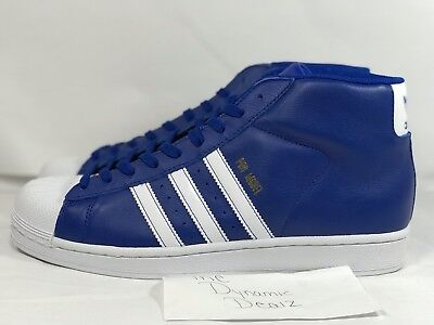 6240944d87a2 Adidas Originals Pro Model Royal Blue White Gold Shell Toe BY3727 Msrp  90
