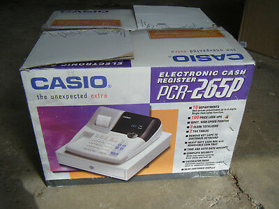 Casio PCR265P Electronic Cash Register - New!