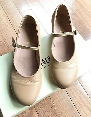 "Girl's Bloch ""techno"" Leather Tap Shoes  Size 5  $15.99  Retail $83"