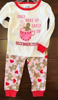 NWT Children's Place Holiday Christmas Girls Pajamas Baby Size 9-12 Months Xmas