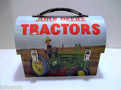 John Deere Tractors Mini Lunchbox by The Tin Box Company & 2008 Desk Calendar