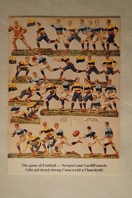 The Game of Football - Newport and Cardiff  - Collectable - Postcard.