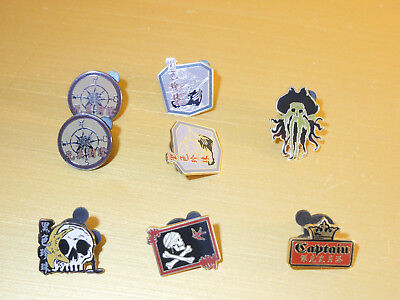 Disney Trading Pins Lot of (8) Pins Pirates of the Carribean Collectible Disney