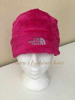 NWT The North Face 'Denali' Plush Beanie Youth/Junior Sz: Medium - Razzle Pink