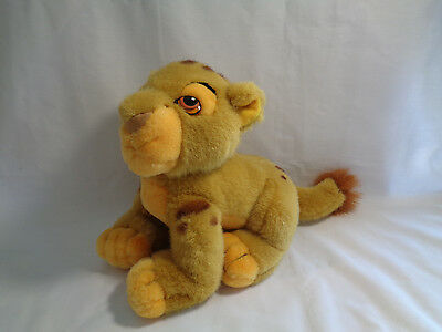 "Disney Store Lion King Soft Simba Cub Plush Toy 8"" Long"