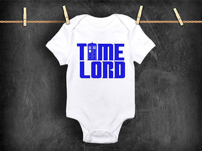 Time Lord Doctor Who Baby Boy Clothes Toddler Shirt Tardis Police Box Fandom