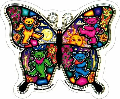 "Grateful Dead Dancing Butterfly - Sticker / Decal AD986 5"" x 4"" Free Shipping"
