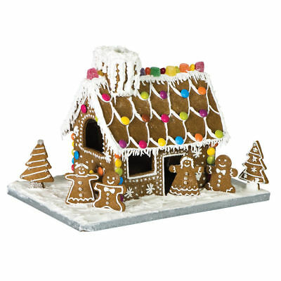 New AVANTI Gingerbread House 10 Piece Set with Base Board