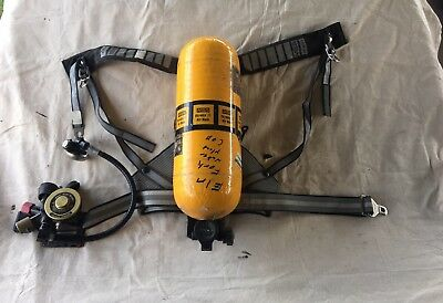 Vintage MSA SCBA Ultralite II Fireman Pressure Demand, Harness, Regulator