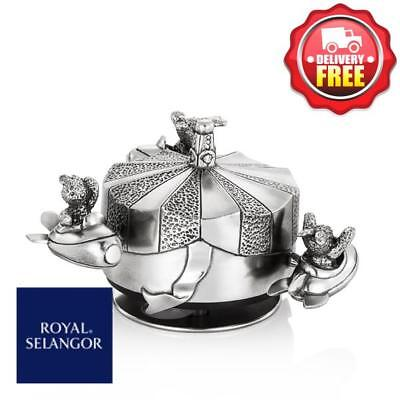 Royal Selangor Bunnies' Day Out Jet Rocket Music Carousel | Made of Pewter