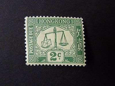 117]   HONG KONG  STAMPS  -    -  L/M/M  2c GREEN  POSTAGE DUE STAMP