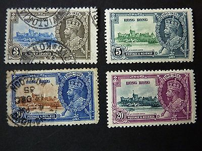 120]    Hong Kong  Stamps  -    -  L/m/m  & Used  1935 Silver Jubilee Qe 11