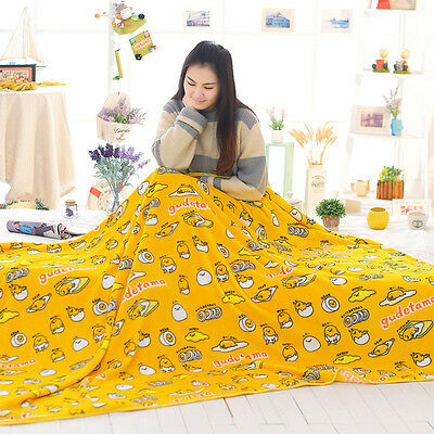 plush toy cartoon gudetama lazy Egg yolk air-condition blanket nap blanket 1pc
