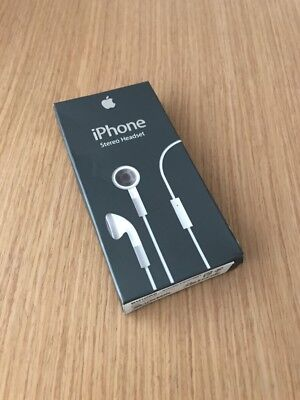 New Old Stock Genuine Apple iPhone 1st Generation 2g Headset No  Remote Control
