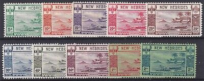New Hebrides   1938   S G 52 - 61  Part Set To 2F  Mh   Cat £65
