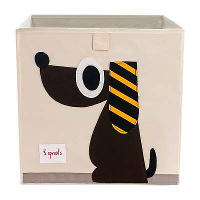 3 Sprouts Fabric Cube Storage Bin - Dog