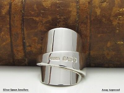 **assay Approved** Chunky Solid Sterling Silver Spoon Ring  - Size P
