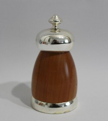 CC Made in Italy Modern Design Pfeffermühle Pepper Mill 70s 70er Chrom & Holz ++