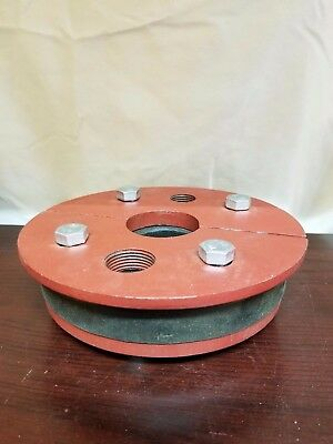 """Cast Iron Well Seal Split Top 6"""" FITS 1-1/4"""" SINGLE DROP PIPE"""
