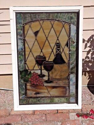 Vintage Leaded Stained Glass Bavarian Window from The Old Heidelberg